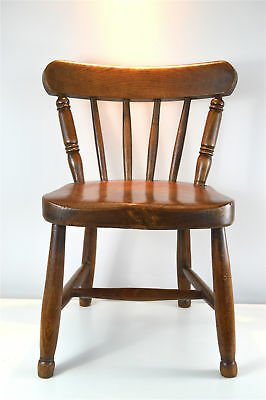 Antique childs spindle back chair elm and ash circa.1900-20