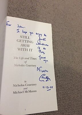 Nicholas Courtney STILL GETTING AWAY WITH IT Life & Times SIGNED paperback 1st e
