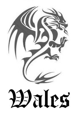 high detail airbrush stencil WALES FREE POSTAGE