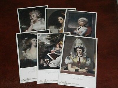 SET OF SIX TUCK LIMITED EDITION POSTCARDS - THE OLDE PRINT SERIES - No. 2649.