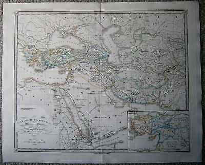 1855 Spruner historical map REGNA SUCCESSORUM ALEXANDRI MAGNI (#26)