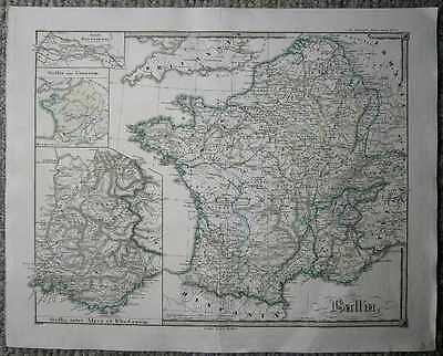 1855 Spruner historical map GALLIA (FRANCE) (#6)
