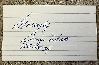 Bernie Frenchy Uhalt signed card - White Sox debut 1934