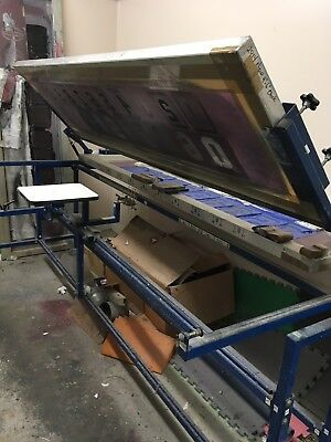 Inline Numbering Screen Printing System  -7' W/ 2 Screens & 3 Platens