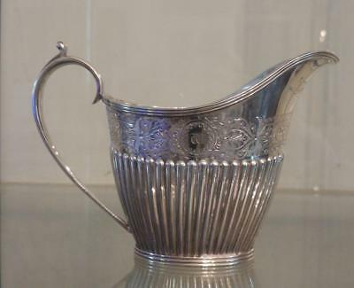 Exquisite Antique Mappin & Webb Silver Plated Engraved & Gadrooned Milk Jug