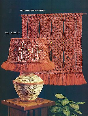 Vintage Macrame Curtain & Lamp Shade Patterns The Macrame Times Craft Book MM371
