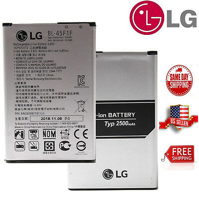 For LG K4 K8 Cell Phone Li-ion Battery 2500mAh Aristo OEM BL-45F1F New Original