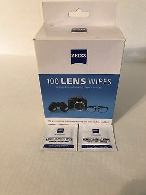 Used Zeiss Lens Cleaning Wipes Pre moistened Lens Wipes 34 Count.  E1