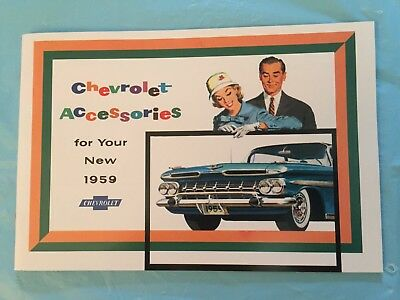 "1959 Chevrolet ""Accessories for Your New 1959"" Car Dealer Sales Brochure REPRINT"