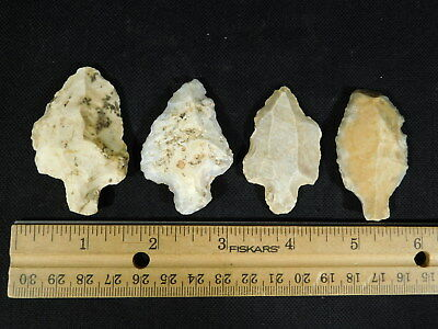 Lot of FOUR Nice! 55,000 to 12,000 Year Old Aterian Artifacts Algeria 55.5gr e