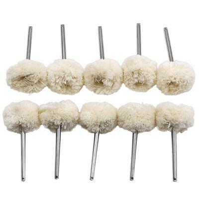 Fine 10PCS Woolen Cotton Thread Polishing Wheels Brush Buffing Pad Dremel Rotary