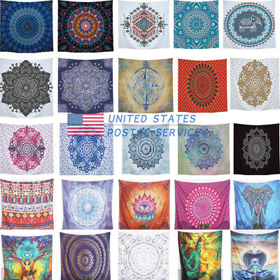 USA Hippie Psychedlic Tapestry Mandala Wall Hanging Wall Blankets Home Decoratio