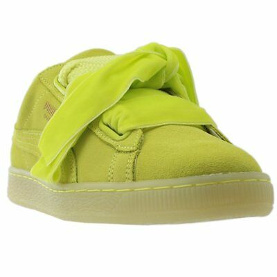 PUMA SUEDE HEART RESET Sneakers Yellow Womens $24.95