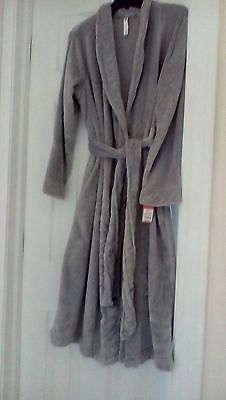 Gilligan & O'malley Womens Grey Animal Plush Bath Robe Size M/l