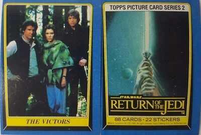 RETURN OF THE JEDI vintage Trading Card Set SERIES 2 #133 - 220 topps 1983