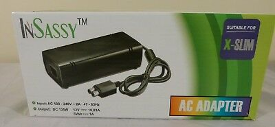 Power Supply Brick AC Charger Adapter Cable Cord For Microsoft XBOX 360 Slim