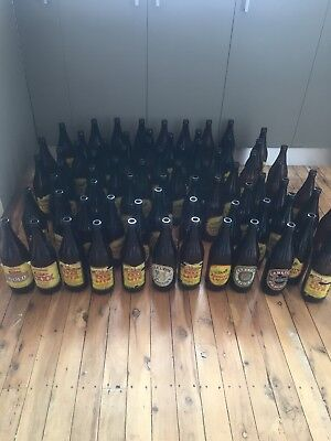 old beer bottles And Brewing Kit