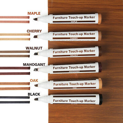Furniture Touch Up Pen Markers to repair Laminate Wood Floor Scratches 6 Colors