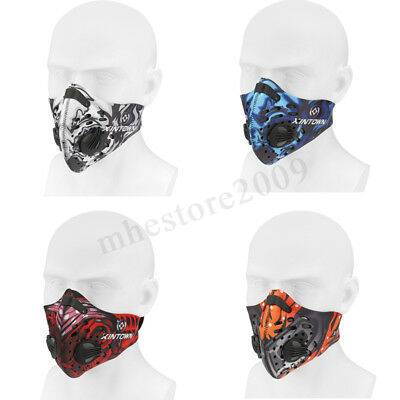 Half Face Mask Mouth Anti Dust Pollution Filter Sport Cycling Bicycle  US