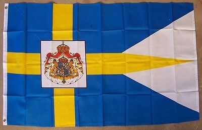 SWEDEN SWEDISH MINI Polyester International Flag Banner 3 X 5 Inches