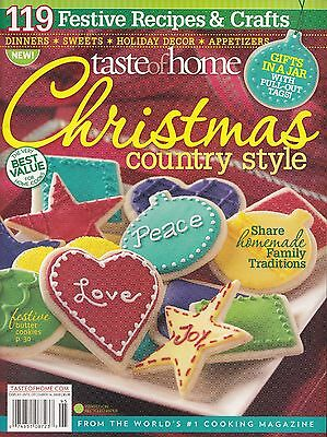 Christmas Country Style 2009 Taste Of Home Magazine Gifts In A Jar Recipe Cards