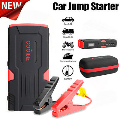 Portable Car Jump Starter Battery Booster Charger Jumper 600 Peak Amp 16500mAh