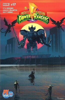 Mighty Morphin Power Rangers #17 2017 SDCC exclusive cover PX variant Boom comic