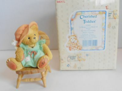 Cherished Teddies A Mother's Love Bears All Things Item # 624861 w rocking chair