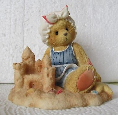 Cherished Teddies Bear Figurine Sandy Room In Sand Castle For You Beach 203467