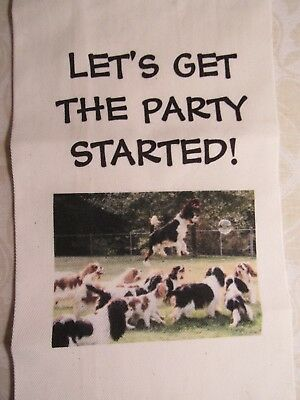 Let's Get The Party Started! Wine Bottle Bag Cavalier King Charles Spaniels