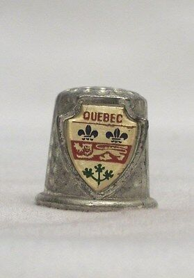 Quebec Pewter Thimble with Shield