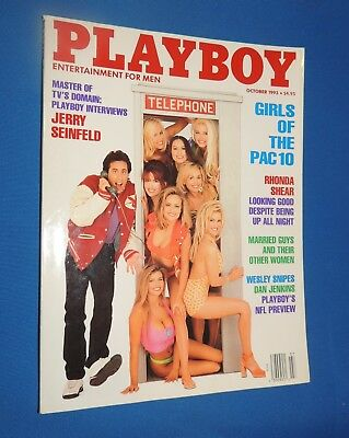 Vintage October 1993 Playboy Magazine Jerry Seinfeld **free Shipping**