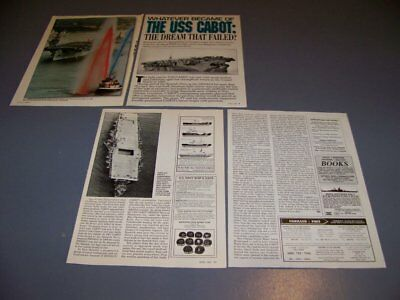 Vintage..uss Cabot (Cvl-28)..History/Photos/Details..rare! (316S)
