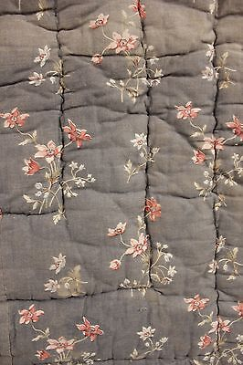 Antique French Quilt 1830-1880 CUTTER boutis for fabric CUTTING textile
