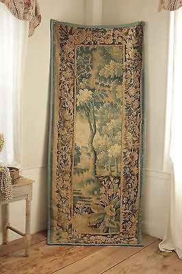 Tapestry 18th century Aubusson wall hanging 1700's French Fabric Art