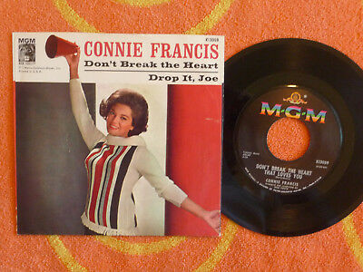 Connie Francis Dont Break The Heart That Loves You 45 Rpm W