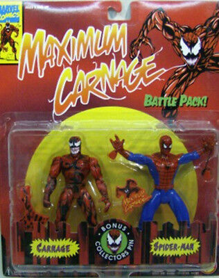 Maximum Carnage Vs Spider-Man Animated Series Battle Pack ToyBiz (Mint On Card)