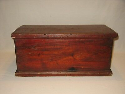 Antique 19th Century Wooden Document Box - Square & Round Nails - France?