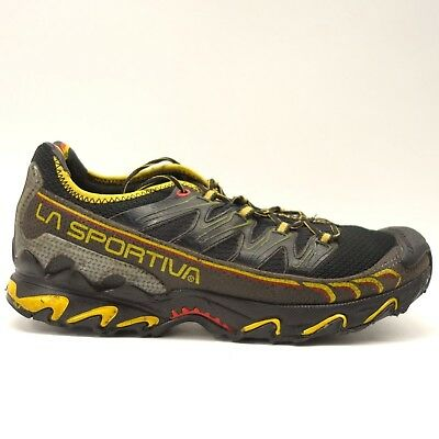 c980b1d507f4 La Sportiva Mens Black Yellow Ultra Raptor Athletic Running Trail Shoes  Size 12
