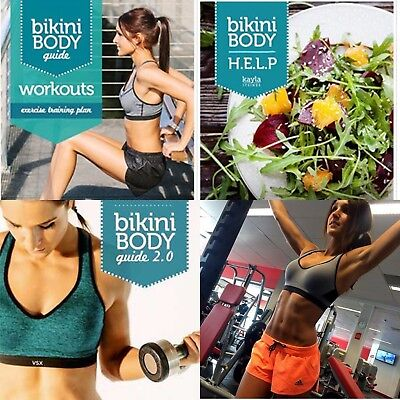 NEW 2018 Kayla Itsines Bikini Body Guide + 28 Day Healthy Eating Guide + Extras