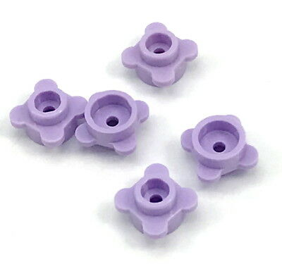 NEW LEGO Round PLATES Flower Edge 4 Knobs Petals Lavender x10 1 x 1