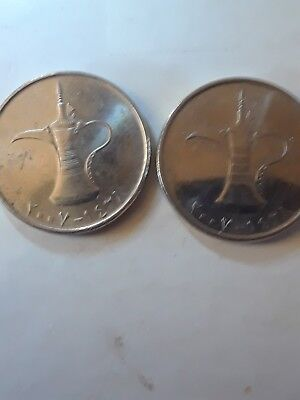 United arab emirates coin collectable  2 coins