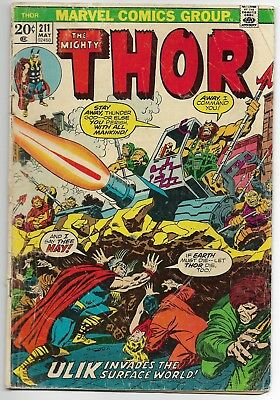 1973 Marvel Comics Group The Mighty Thor #211