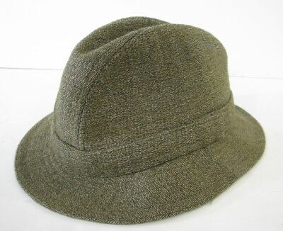 f23e270ead0a4 VTG LL BEAN Keepers WOOL TWEED TRILBY HAT CAP Fedora MADE ENGLAND Gangster L