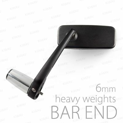 Stainles motorbike bar end chrome mirrors Classic black M6 bolt-on for Vespa GTS