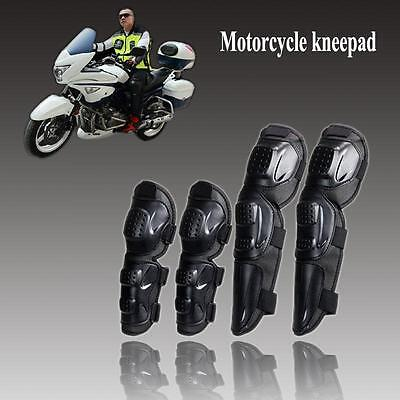 Trendy 4X Adult Elbow Knee Shin Armor Guard Pads Protector for Motorcycle Bike