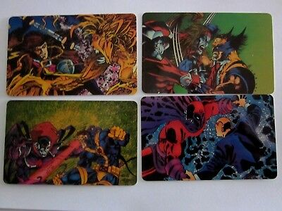 Greatest Battles of the X-Men Group of 4  Phonecards, by Marvel Comics