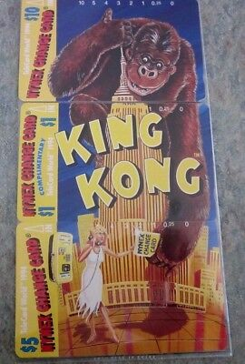 King Kong and Empire State Building Puzzle set of 3 Nynex phone cards