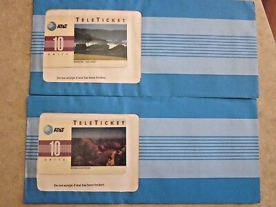 Two AT & T 10 Unit Scenic Phone cards = Grand Canyon and Oahu, Hawaii