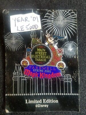 FAREWELL MAIN STREET ELECTRICAL PARADE Mickey Mouse waving LE DISNEY PIN d38